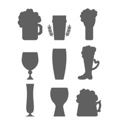 Beer glass silhouette vector image vector image