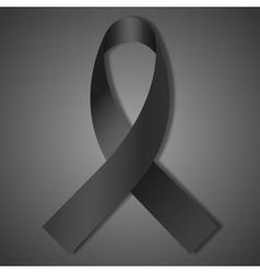 black ribbon vector image