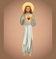 jesus christ sacred heart spirit vector image