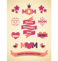 Mothers Day Design Elements vector image