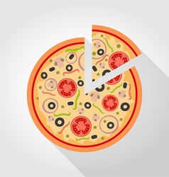 Pizza piece colored Icon vector image vector image