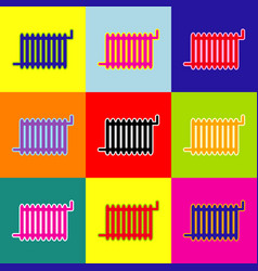 radiator sign pop-art style colorful vector image