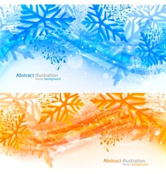 set of xmas banners vector image vector image