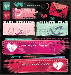 valentine site banners vector image vector image