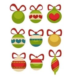Christmas balls decoration Cartoon style vector image vector image