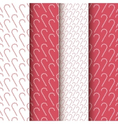 Christmas Candy Patterns vector image