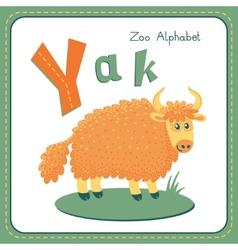 Letter Y - Yak vector image vector image