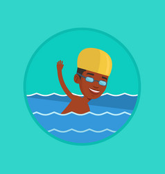 man swimming vector image vector image