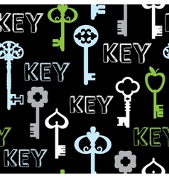 seamless keys vector image