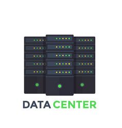 server room data center vector image vector image