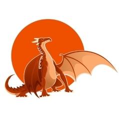 Big red dragon vector image vector image