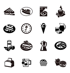 Cereal Black Icon Set vector image vector image