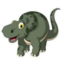 cute dinosaur cartoon posing vector image vector image