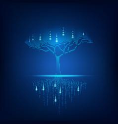 digital tree vector image