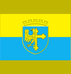 flag of opole city in opole voivodeship in poland vector image vector image