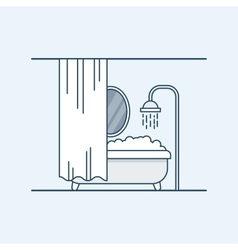 Modern interior design of a bathroom or shower vector image vector image
