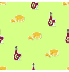 Seamless pattern with wine icons vector
