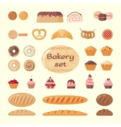Big bakery set vector image