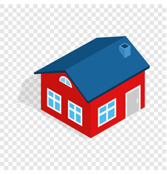 house with attic isometric icon vector image