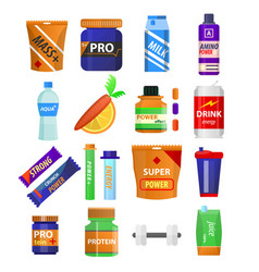 sport and fitness nutrition and dietary vector image