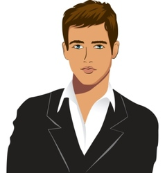 young man vector image vector image