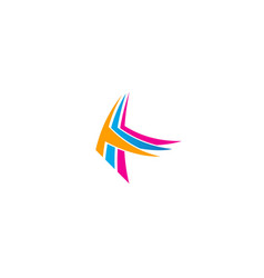 abstract colorful k initial logo vector image