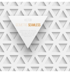 abstract seamless geometric triangle pattern vector image