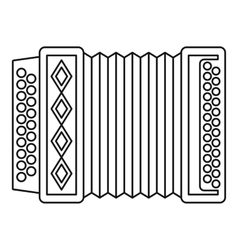 Accordion icon outline style vector