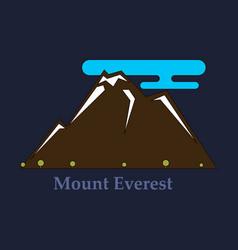 Alps mountain landscape at europe switzerland vector