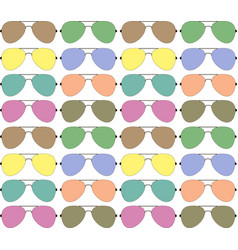 Background with color glasses on a white fond vector