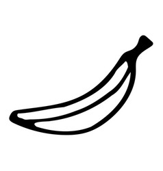 Banana hand drawn outline doodle icon transparent vector