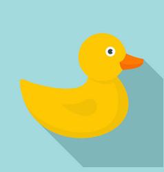 bath duck icon flat style vector image
