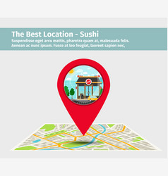 Best location sushi vector