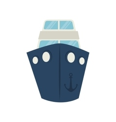 big ship cruise icon graphic vector image