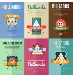 Billiards Label Set vector image