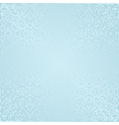 Blue background with antique pattern vector