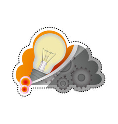 bulb electric energy vector image