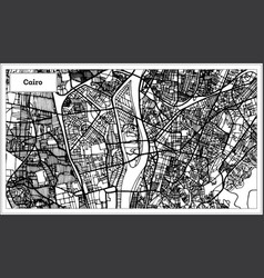 Cairo egypt city map in black and white color vector