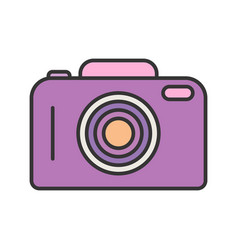 camera line filled icon vector image
