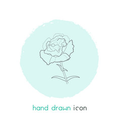 carnation icon line element vector image
