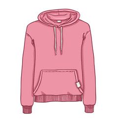 Cartoon - pink hoodie sweatshirt vector