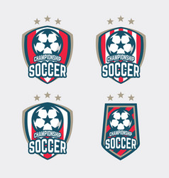 championship soccer logo or football club sign vector image