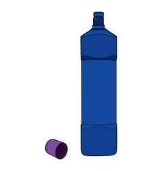 chemical bottle opened cap vector image