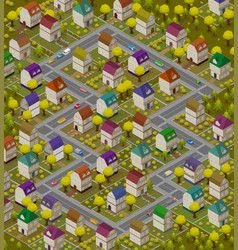 Children rug - isometric carpet for game with vector