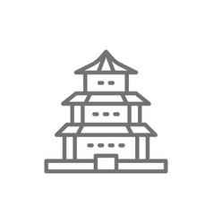 chinese temple traditional church line vector image
