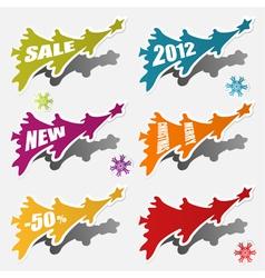 christmas sticker vector image