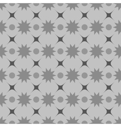 Circle and star seamless pattern vector image