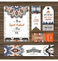 Collection banners flyers or invitations vector