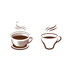 cup coffee symbol cafe drink food concept vector image
