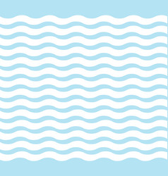Cute blue wave pattern vector